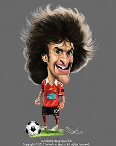 Caricatura de Pablo Aimar Cristiano Ronaldo Portugal, Kelly Slater, Usain Bolt, Park Ji-sung, Benfica Wallpaper, Funny Caricatures, Sporting, Sports Art, Liverpool