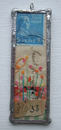 Soldered collaged pendant by hens teeth, via Flickr