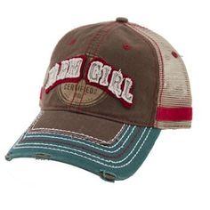 farm girl cap | Farm Girl Certified Brown Trucker Cap