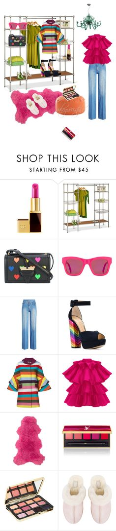 """""""Almost Ready"""" by valegucci ❤ liked on Polyvore featuring Tom Ford, Honey-Can-Do, Loewe, STELLA McCARTNEY, Victoria Beckham, Charlotte Olympia, Mary Katrantzou, Pols Potten, Yves Saint Laurent and Too Faced Cosmetics"""