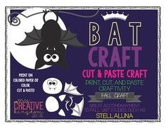 Stellaluna Bat Craft - 50% OFF 10-16-2014 - Follow me for a chance to win for FREE!