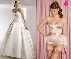 Lencería de novia. Vestidos con corsé. #Bodas #Lencería