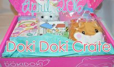 USE CODE SAKURAOTAKU AT CHECKOUT TO RECEIVE $3 OFF YOUR FIRST CRATE! Doki Doki's kawaii crate from April 2016  Japan Crate | Doki Doki Crate | Kawaii | Cute | Subscription Box | Review | Japan | Amuse | Alpacasso | Coroham Hamster | Neko Atsume | Unboxing |