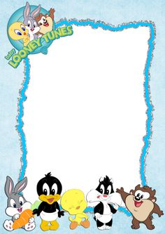 A Baby Shower Invitations Looney Tunes 8 CardsEnvelopes Party