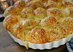 Sykt godt hvitløksbrød med ostebomber - Franciskas Vakre Verden Norwegian Food, Crumpets, Appetisers, Baking Tips, Tapas, Recipies, Muffin, Food And Drink, Bread