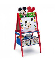 Pizarra Mickey Mouse de madera. Combi 2 caras. TE87575MM