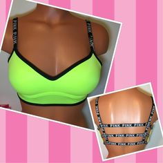 NEW PINK VS CAGED PUSH UP BRA PINK VICTORIA'S SECRET    CAGED BACK LOGO PUSH UP BRA PADDED    COLOR NEON     FAST SHIPPING!!! ✅✅✅   Check out my other items!   I am sure you will find something that you will love it! Thank you for watch!!!!!  Be sure to add me to your favorites list! PINK Victoria's Secret Intimates & Sleepwear Bras