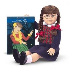 American Girl Dolls: Molly was my second doll, she's still sold now! Interesting article on the history of the original 5 dolls!