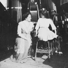 Empress Alexandra and Anastasia