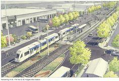 17th Ave & Holgate St Station Rendering - Portland-Milwaukie Light Rail (Orange line)