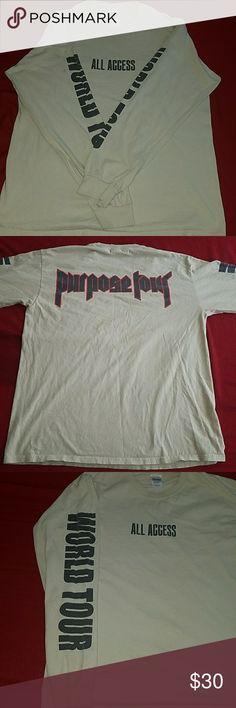 Justin Bieber Purpose Tour Long Sleeve Shirt In Great Condition! Gildan Shirts Tees - Long Sleeve