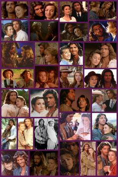 "Collage - Joe Lando and Jane Seymour in ""Dr. Quinn, Medicine Woman"" (1993)"