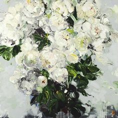 white ... by Bobbie Burgers - I LOVE her art -- her flowers are SO 'full & voluptuous'