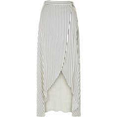 New Look White Stripe Tie Waist Maxi Skirt ($13) ❤ liked on Polyvore featuring skirts, bottoms, faldas, saias, white pattern, long print skirt, wrap skirts, white maxi skirt, long skirts and striped maxi skirts