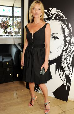 Prada dress, sandals Louboutin.. Kate Moss