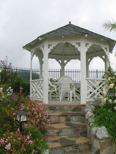 Gazebo up the hill