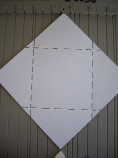 make your own envelope for a 3 x 3 card