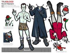 Russell Edgington Tru Blood Paper Doll