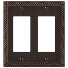 Hampton Bay, Georgian 2 Gang Decora Wall Plate - Aged Bronze, at The Home Depot - Mobile Light Green Walls, Steel Wall, Switch Plates, Light Switch Covers, Beautiful Wall, Plates On Wall, Metal Walls, Georgian, Accent Decor