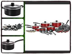 Cookware Set Kitchen Sets 18 Pieces Anodized Nonstick Aluminum Stainless Steel  It Only Comes Along with Our Companys Ebook *** Click image for more details.