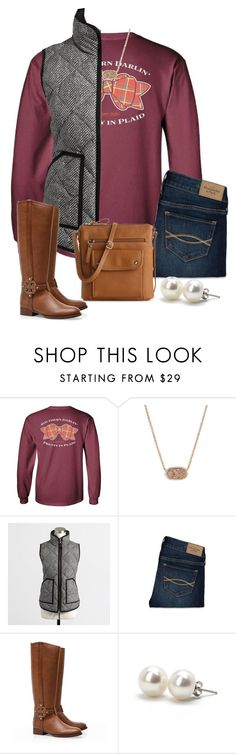 """""""OOTD 11•17"""" by preppycarolinacutie ❤ liked on Polyvore featuring Kendra Scott, J.Crew, Abercrombie & Fitch, Tory Burch, Bounkit and Kelly & Katie"""