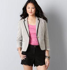 Seersucker Corded Cotton Blazer. Jackets I want for my birthday
