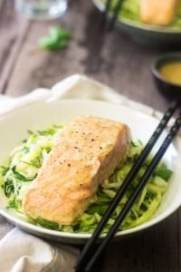 Coconut Curry Salmon and Zoodles