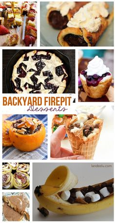 Backyard Firepit Desserts | Don't wait to go camping to try these! landeelu.com So many fun treats to make in your own backyard! Put that firepit to good use tonight! Camping Desserts, Fire Pit Desserts, Camping Meals, Camping Recipes, Camping Cooking, Camping Dishes, Family Camping, Camping Tips, Summer Desserts