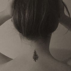 Evergreen tree tattoo