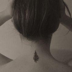 Evergreen tree tattoo