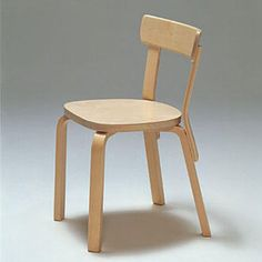 Chair 69 Alvar Aalto Chair Design, Furniture Design, Alvar Aalto, Mid Century Chair, Birch, Chairs, Kitchen, Life, Home Decor