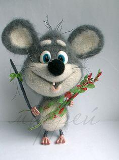 Игрушки животные, ручной работы. Ярмарка Мастеров - ручная работа Мыша.. Handmade.