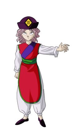 Character - Genkai, Red Tunic (With Hat).png (775×1378)