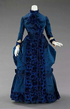 1885 French silk dress.