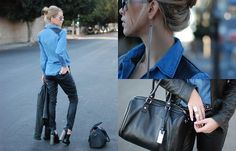 Black and Blue (by Kier Mellour) http://lookbook.nu/look/4531523-Black-and-Blue