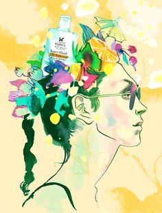 Dreamy by Eili-Kaija Kuusniemi for Kiehls sunscreen Old Maps, Princess Zelda, Disney Princess, Portfolio Design, Illustrators, Disney Characters, Fictional Characters, Graphic Design, Gallery