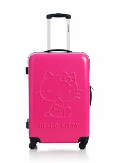 Carry your luggage in style with this HK suitcase.