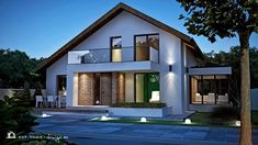 Modern Barn House, Modern Exterior House Designs, Modern House Design, Brick Steps, A Frame Cabin, Villa Design, Design Case, Residential Architecture, Home Fashion