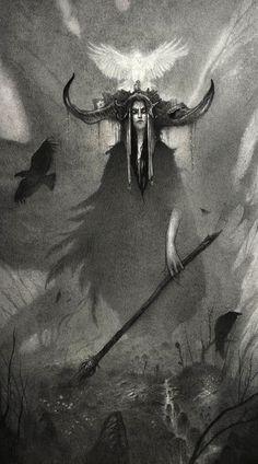 Тени и туман: графитовые рисунки мистических существ