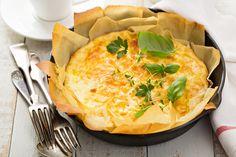 Rezept für ein Lauch-Schinken-Omelette