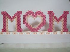Mom Frame (You can add pictures) - Mother's Day perler beads by Angela Albergo