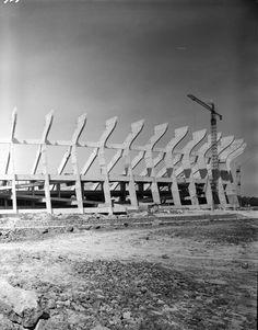 Proceso de construcción del Estadio Azteca. ca. 1963
