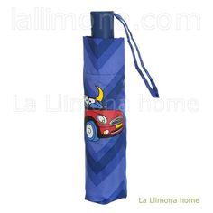 Paraguas kukuxumusu mujer plegable automático azul coche