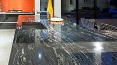 Titanium Granite Countertop,Kitchen Worktop,Natural Granite Benchtops Granite Benchtop, Stone Countertops, Kitchen Countertops, Kitchen Backsplash, Titanium Granite, Granite Colors, Kitchen Worktop, Travertine, Kitchen Colors