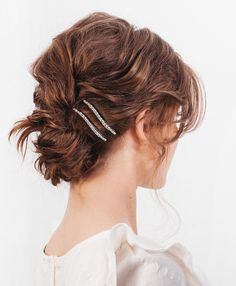 Short Hair Updo, Braided Hairstyles For Wedding, Short Bob Hairstyles, Everyday Hairstyles, Bun Hairstyles, Formal Hairstyles, Wavy Updo, Medium Hair Styles, Curly Hair Styles