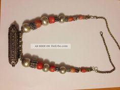 Alte Kette Korallen Mit Silber Aus Jemen - Coral With Silver From Yemen 2 Ketten Bild