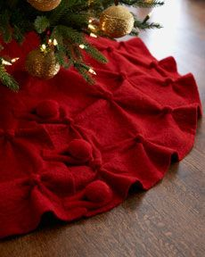 Way out of my price range, but I like the pin tucks on this tree skirt.