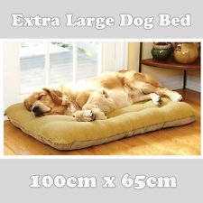 Extra Large Warm Soft Fleece Puppy Pets Dog Cat Bed Cushion Pillow Mat 100x65cm