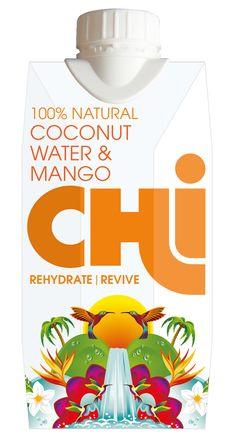 #Chi Mango on mangonmakuinen kookosvesi. Runsaasti elintärkeitä mineraaleja ilman lisäaineita!