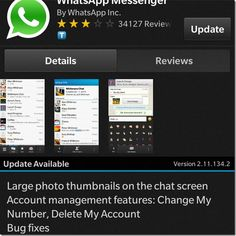 WhatsApp for BlackBerry 10 Updated With Account Management Options Blackberry Apps, Large Photos, Change Me, Accounting, Management, Business Accounting, Beekeeping